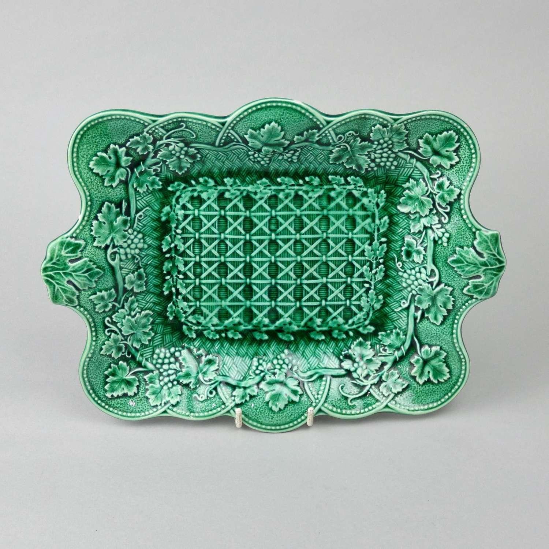 Wedgwood, green glaze dish