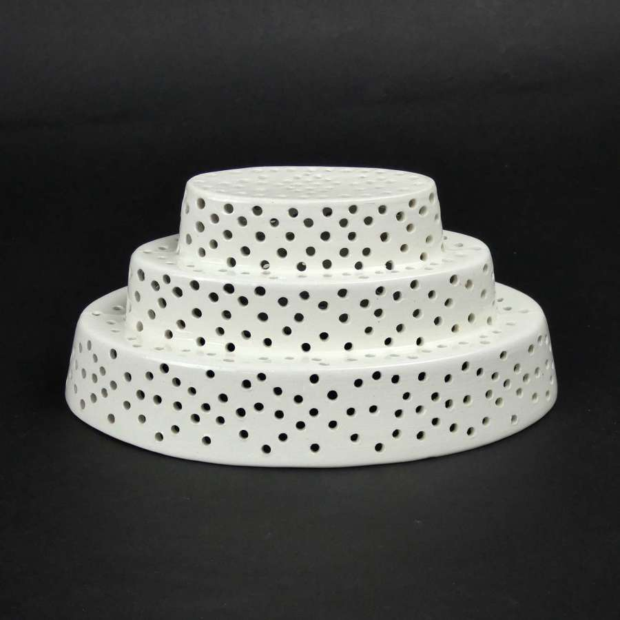 Fine, creamware, curd cheese mould
