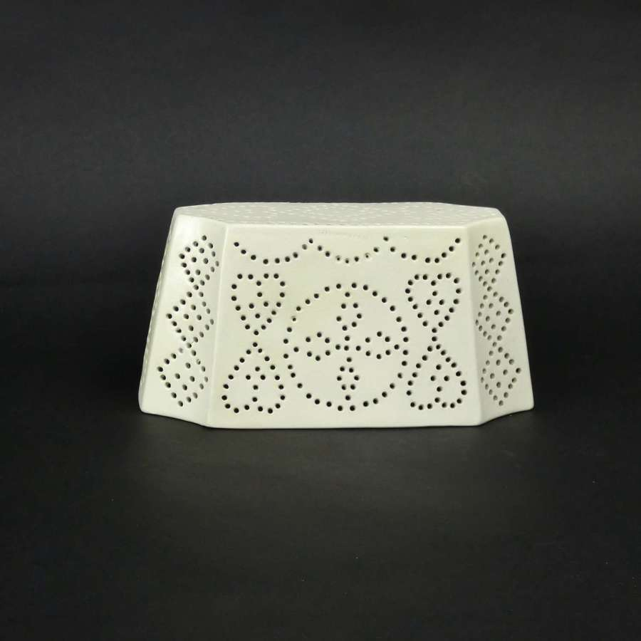 Wedgwood, creamware curd cheese mould