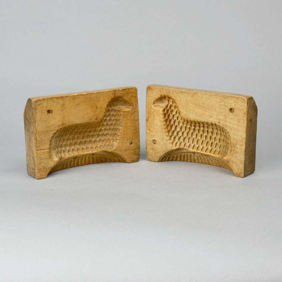 Rare, two part butter mould