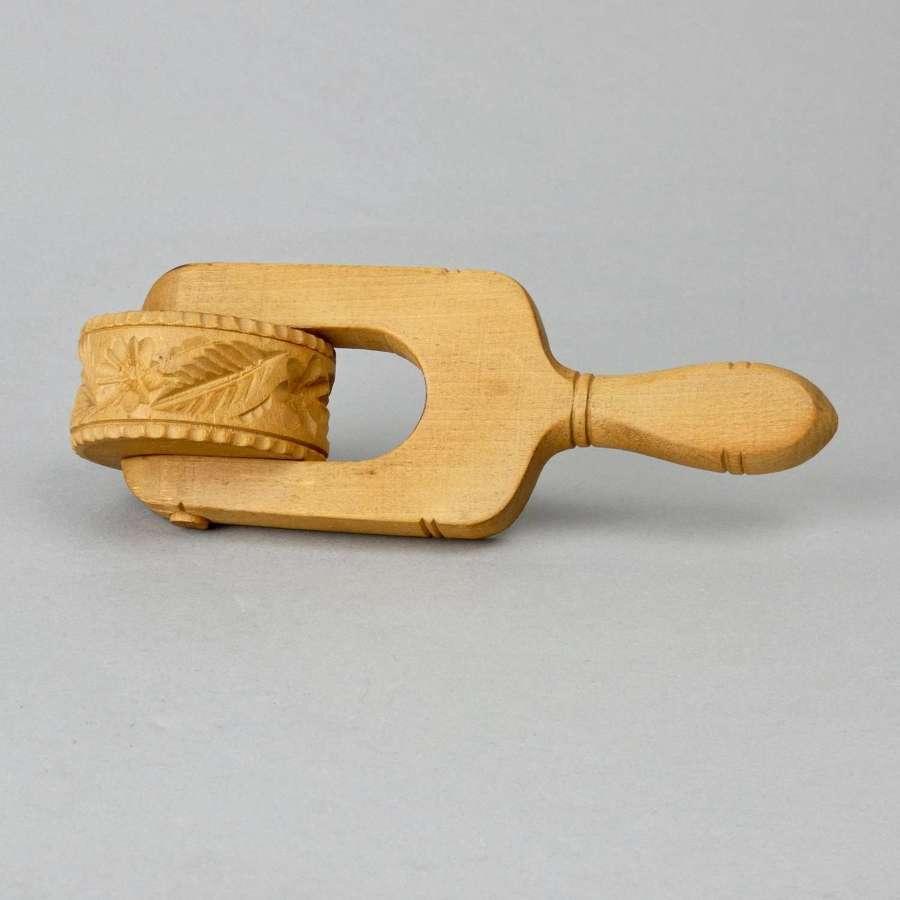 Beechwood butter roller