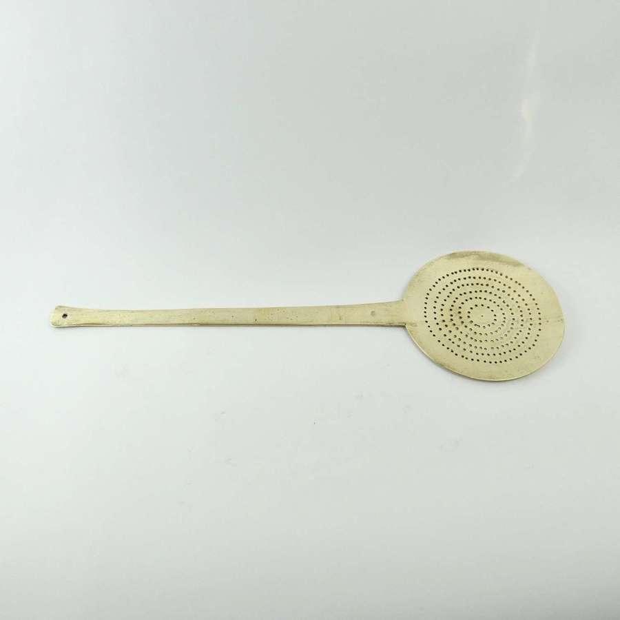 Large, pierced, brass skimmer