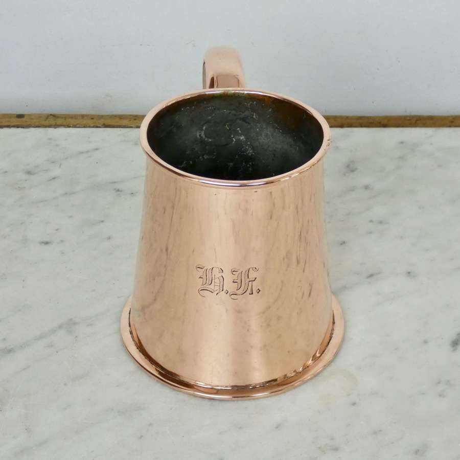 Engraved Copper Tankard