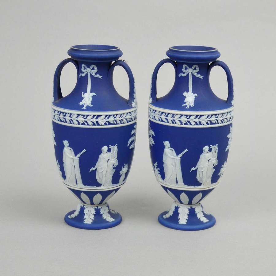 Pair of small Trophy Vases