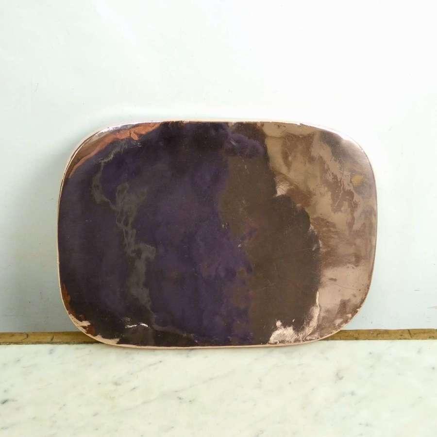Rectangular copper baking tray