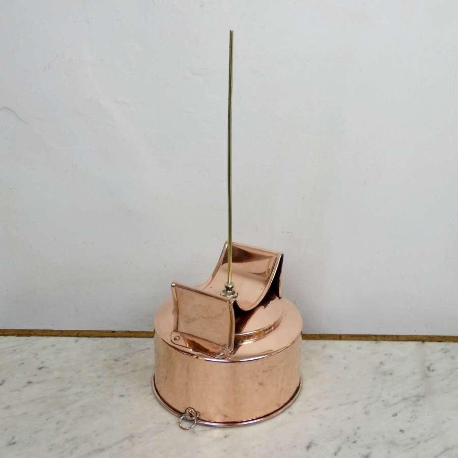 Vintage, Copper Barrel Funnel