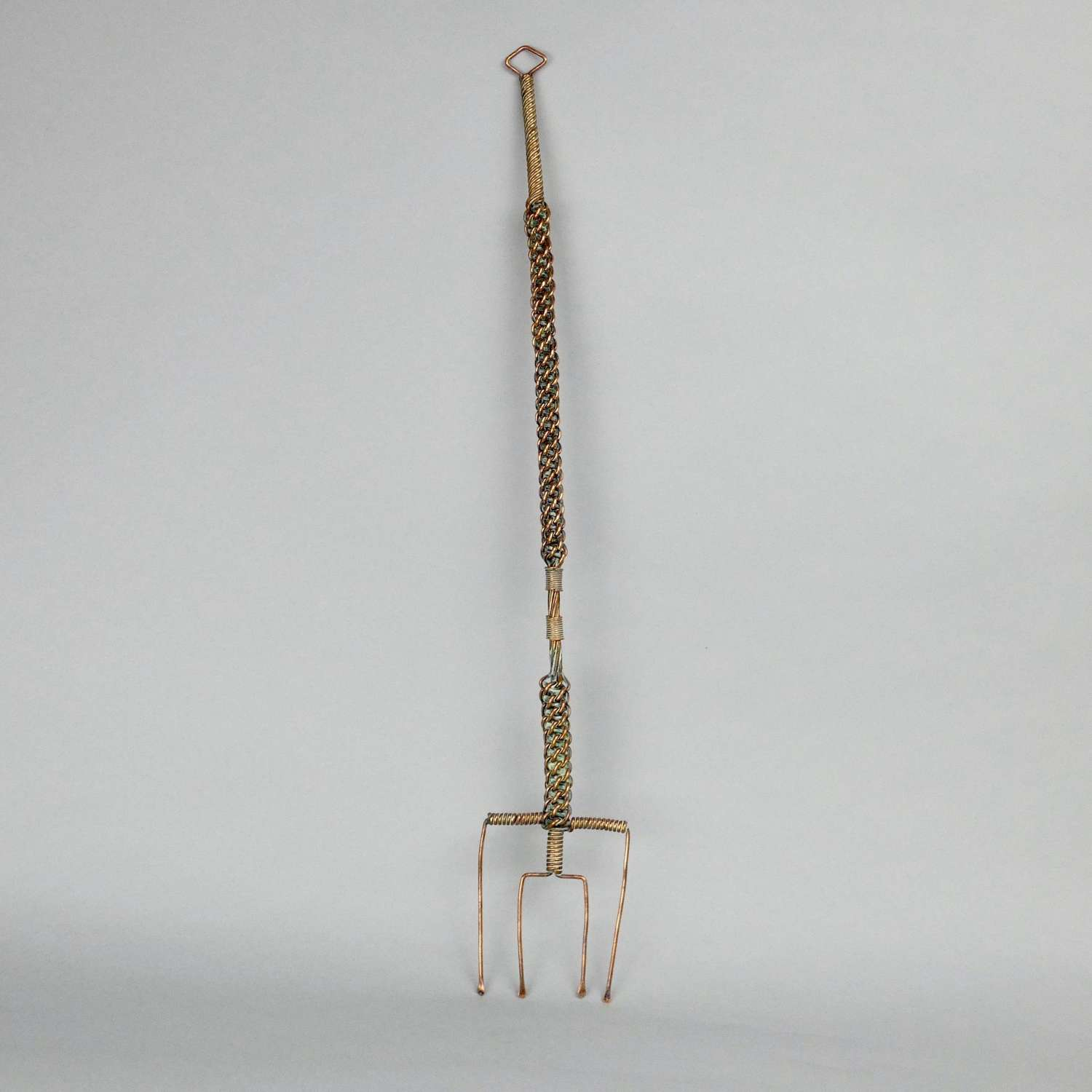 Unusual, copper wirework toasting fork