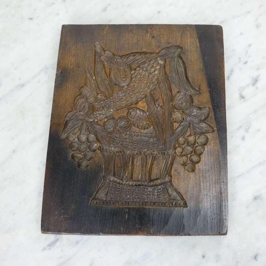 19th century, oak gingerbread mould