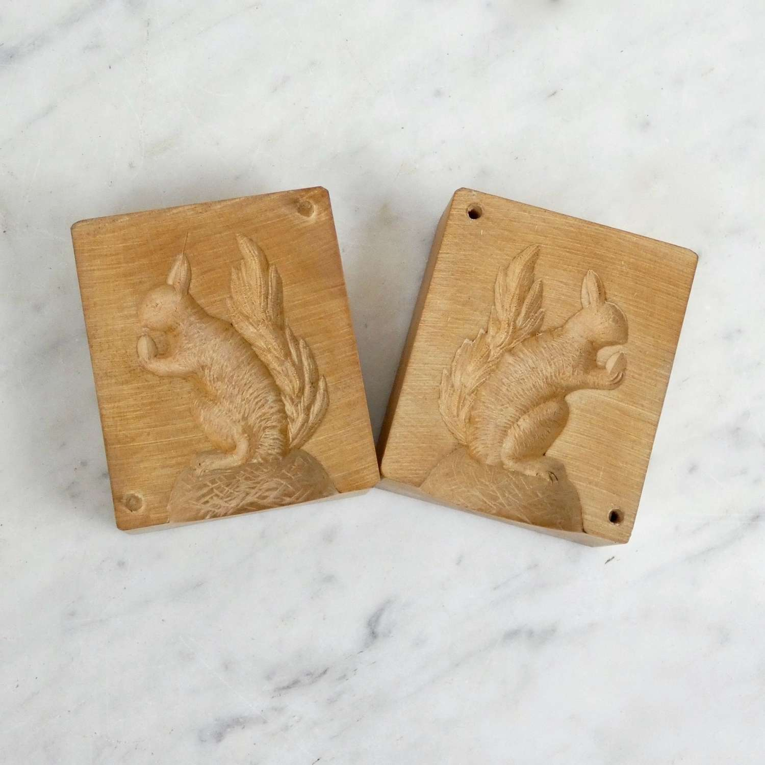 Butter mould carved with a squirrel