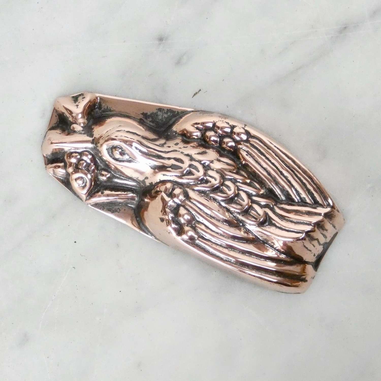 Mini copper jelly mould 'Bird in Flight'