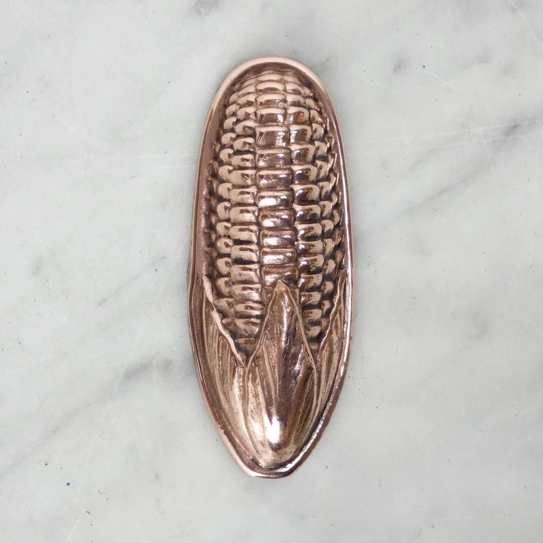 Mini copper jelly mould 'Sweetcorn'
