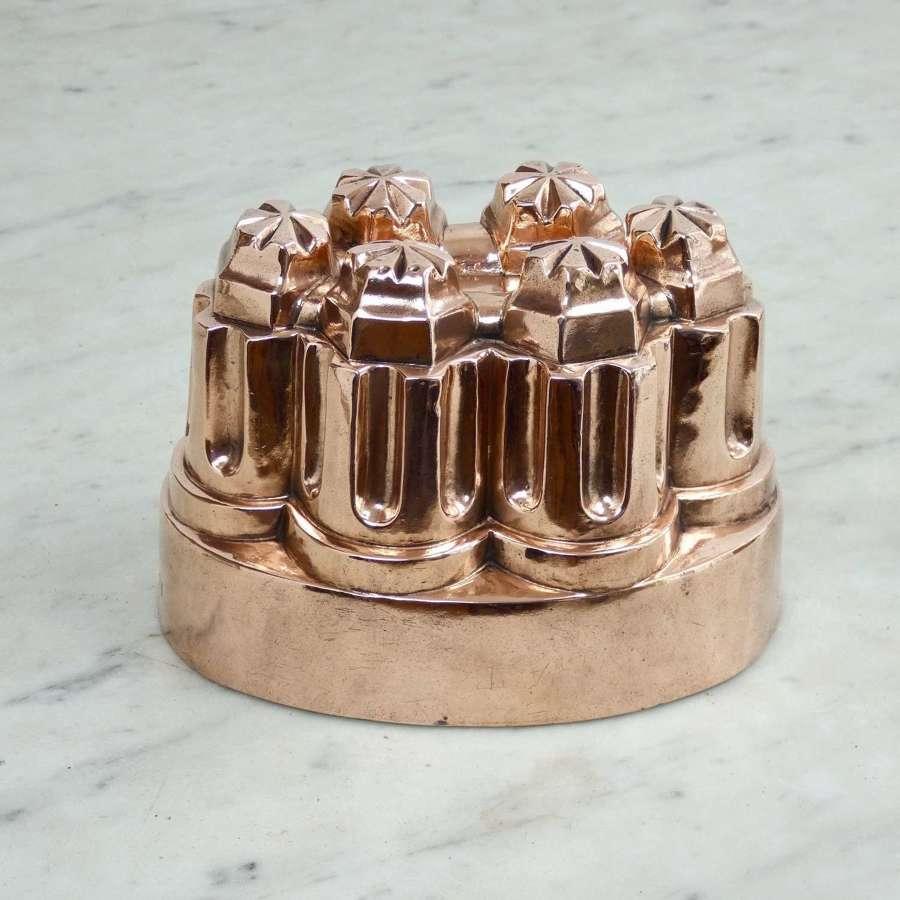 Antique, copper jelly mould