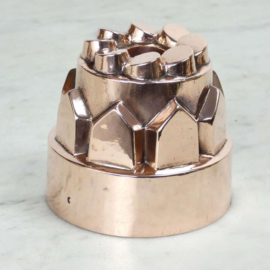 Small French copper jelly moulds