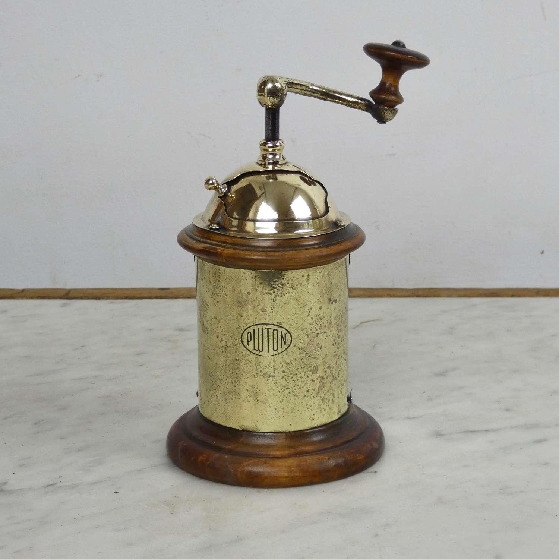 Brass coffee or pepper grinder