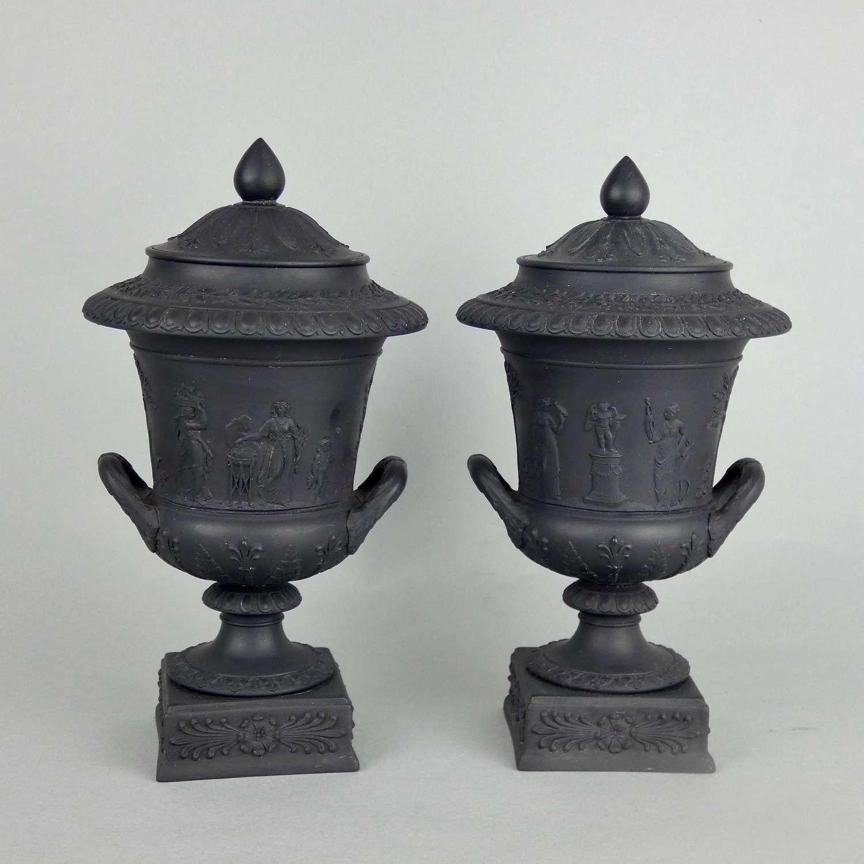 Pair of Wedgwood Campana vases