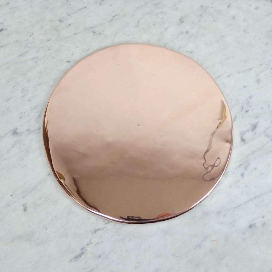 Circular copper baking sheet