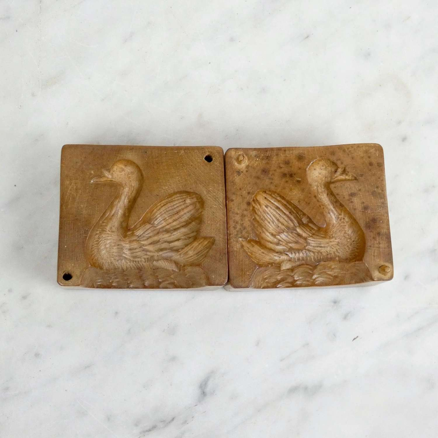 Two Part Swan Butter Mould