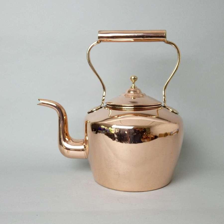 Large, Victorian Copper Kettle