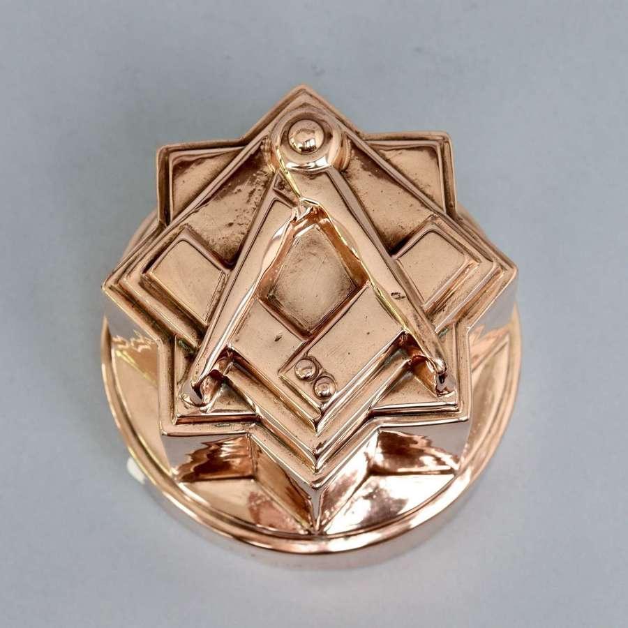 Rare, Masonic copper mould