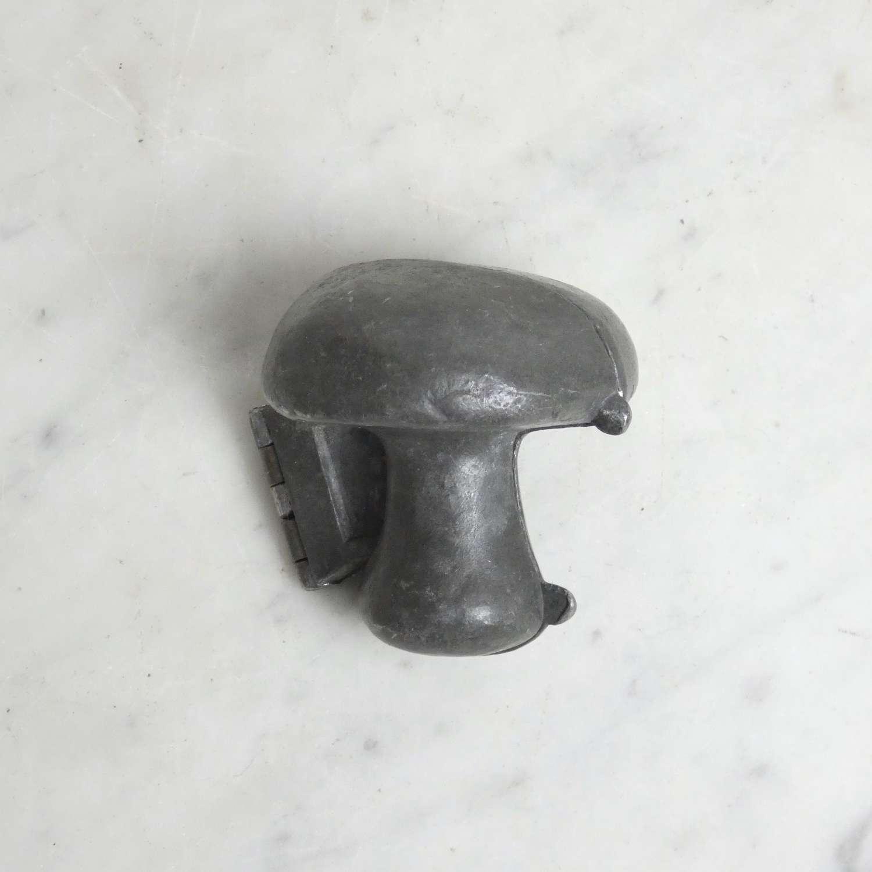 Pewter, mushroom shaped ice mould