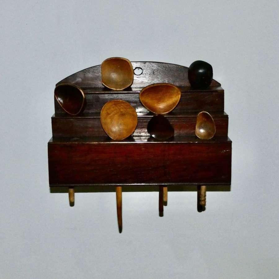 Welsh Oak spoon rack with Cawl Spoons