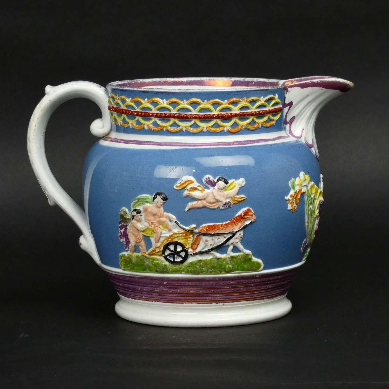 Enoch Wood type, lustre jug