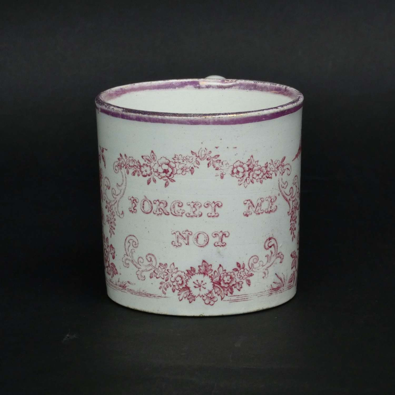 Child's pottery mug printed with