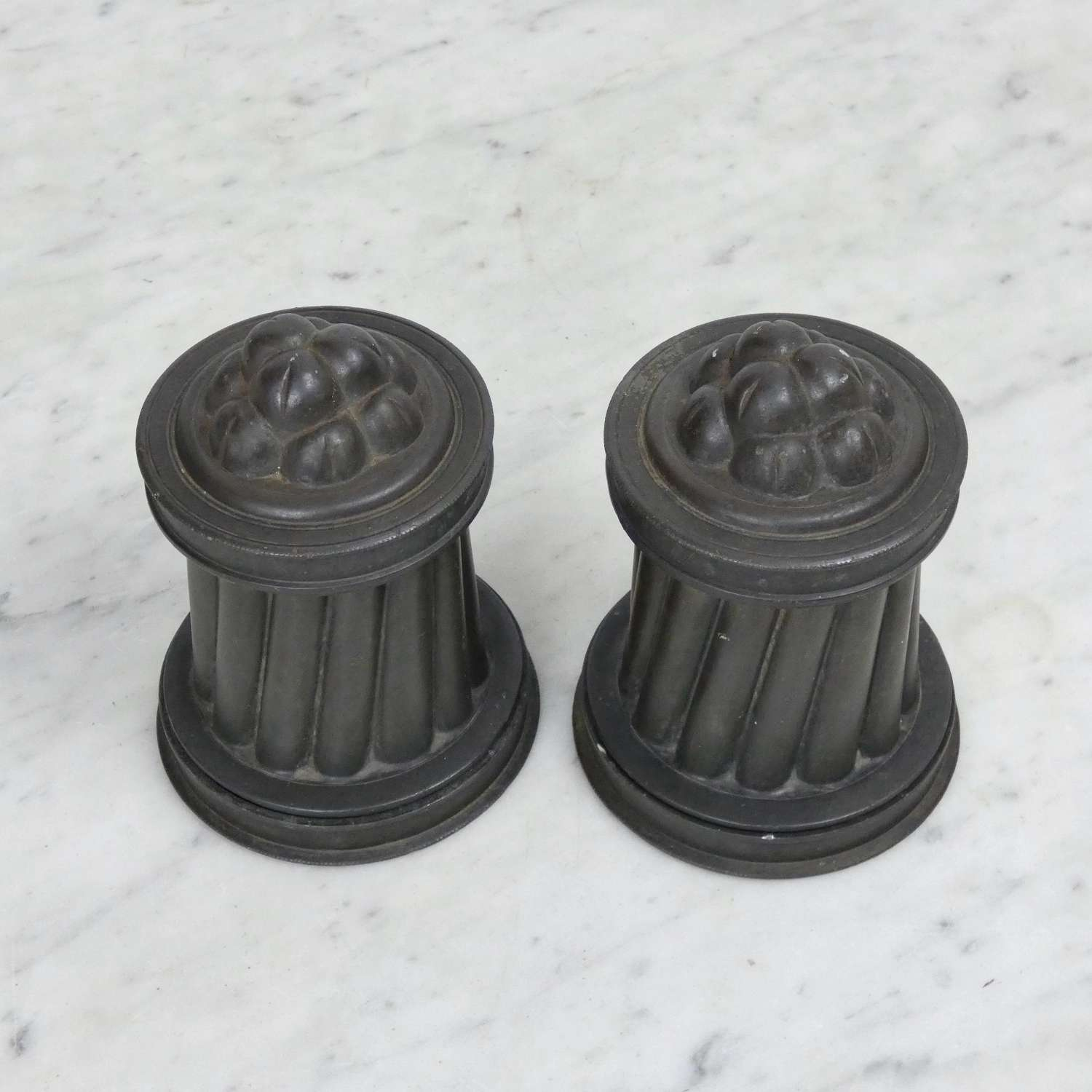 Pair of Pewter Ice Cream Moulds