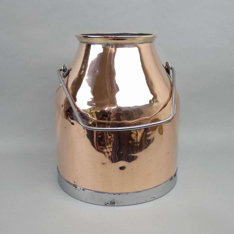Decorative copper milk churn