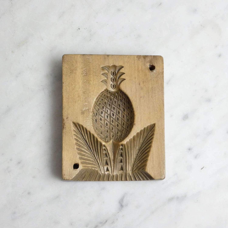 Carved wooden butter mould