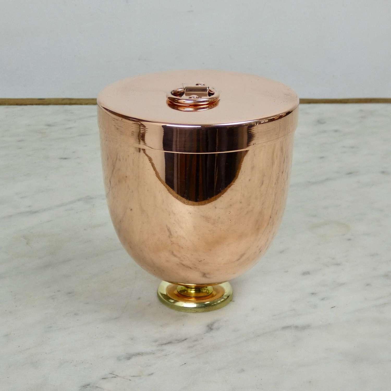 Small copper ice cream mould