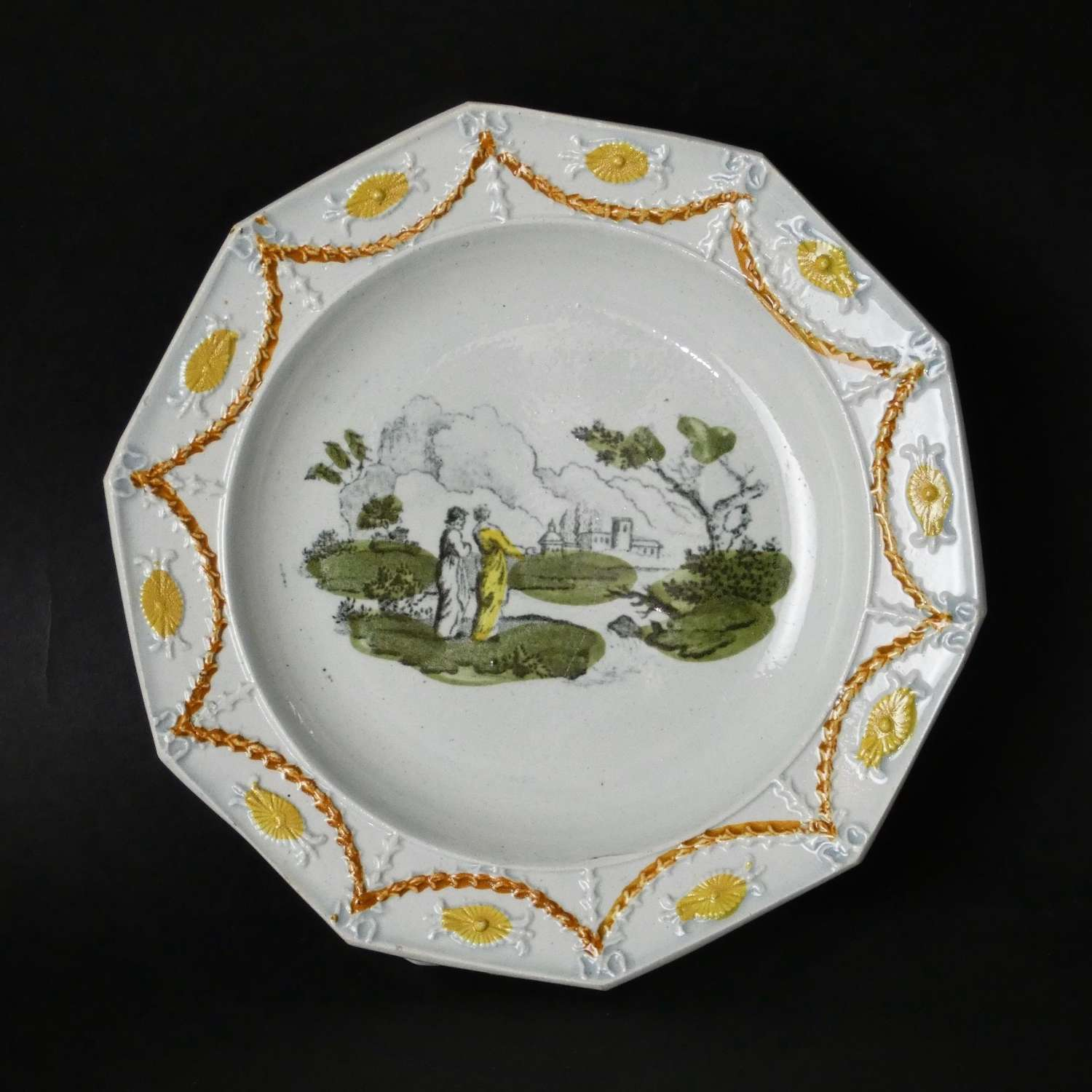 Fine quality pearlware child's plate
