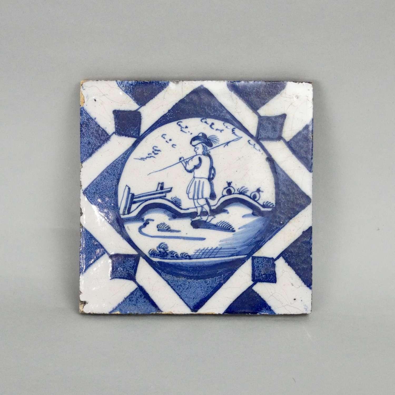 Unusual, Dutch Delft Tile