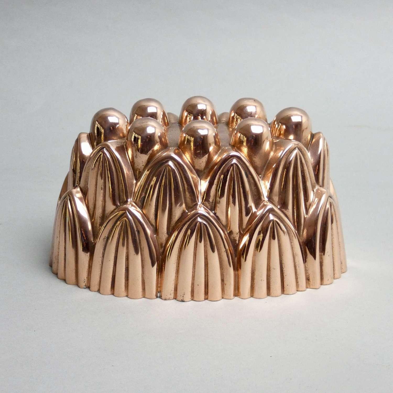 Acanthus design copper jelly mould
