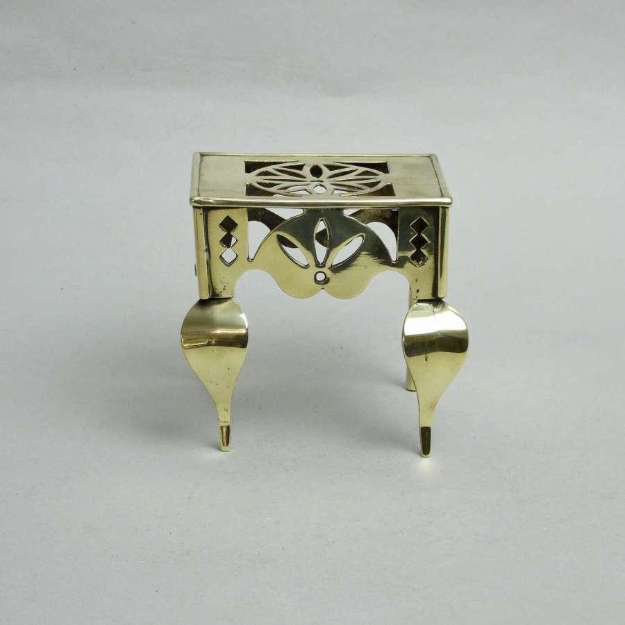 Miniature brass footman