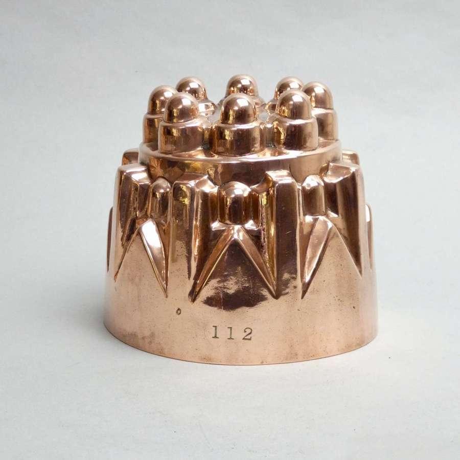 Decorative copper jelly mould