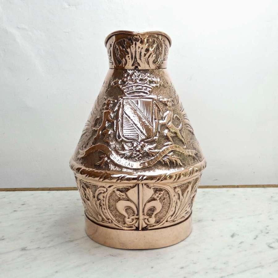 Rare, Heraldic, Masonic Copper Jug
