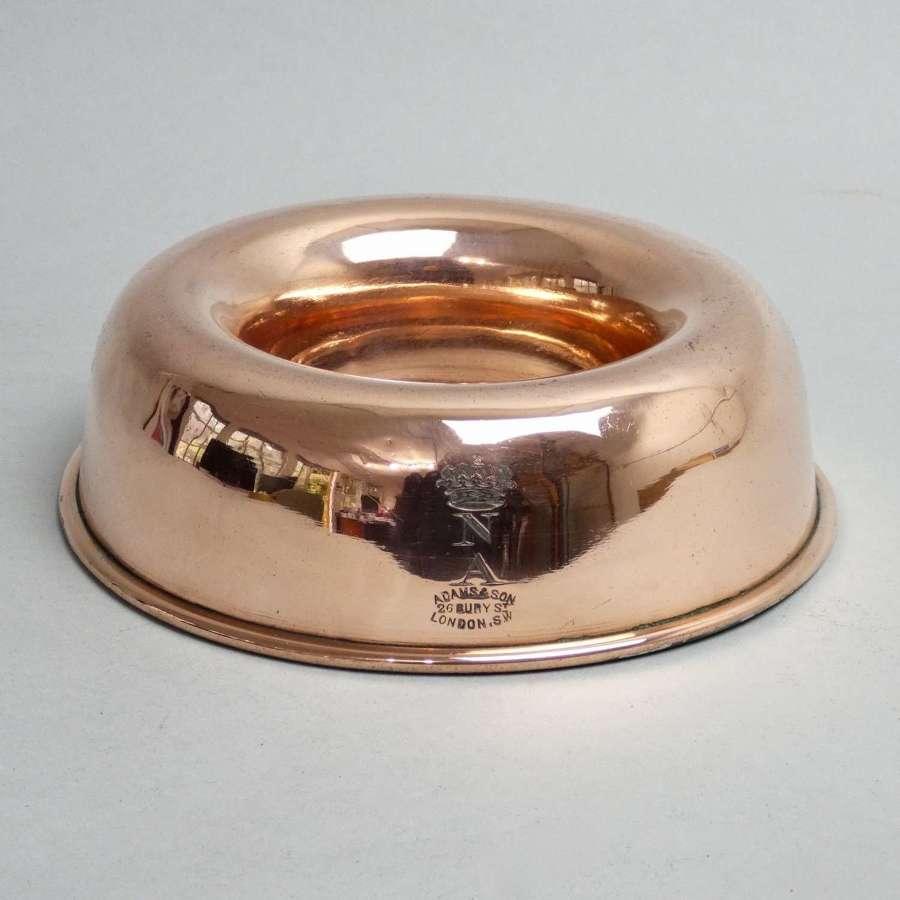 Engraved copper Savarin mould