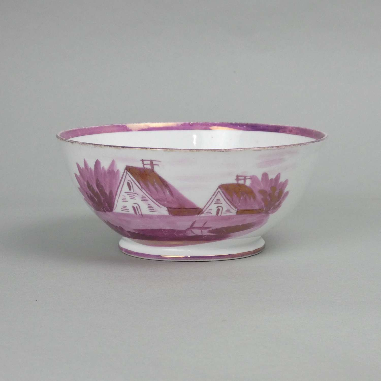 Pink Lustre Bowl